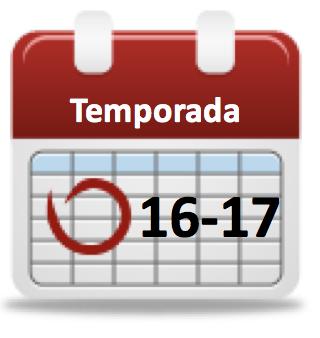 Calendario de la temporada 2016-2017